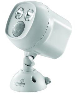 Acclaim Lighting(R) B295GR Motion-Activated LED Dual Spotlight (Dove Gray)