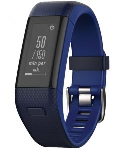 Garmin(R) 010-01955-38 vivosmart(R) HR+ Activity Tracker (Regular Fit; Midnight Blue/Force Blue)