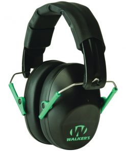 Walker's Game Ear(R) GWP-FPM1-BKTL PRO Low-Profile Folding Muff (Black/Teal)