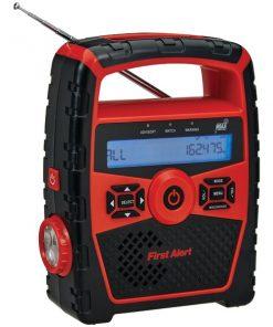 First Alert(R) SFA1180 Portable AM/FM Weather Radio with Alarm Clock