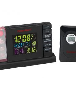 First Alert(R) SFA2650 Radio-Controlled Weather Station Alarm Clock with Wireless Sensor