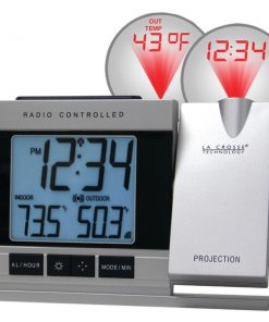 La Crosse Technology(R) WT-5220U-IT-CBP Atomic Projection Alarm Clock with Indoor & Outdoor Temperature