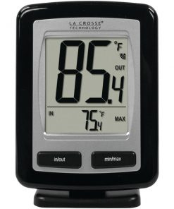 La Crosse Technology(R) WS-9009BK-IT-CBP Black Wireless Temperature Station