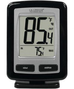 La Crosse Technology(R) WS-9009BK-IT-CBP Black Wireless Temperature Station