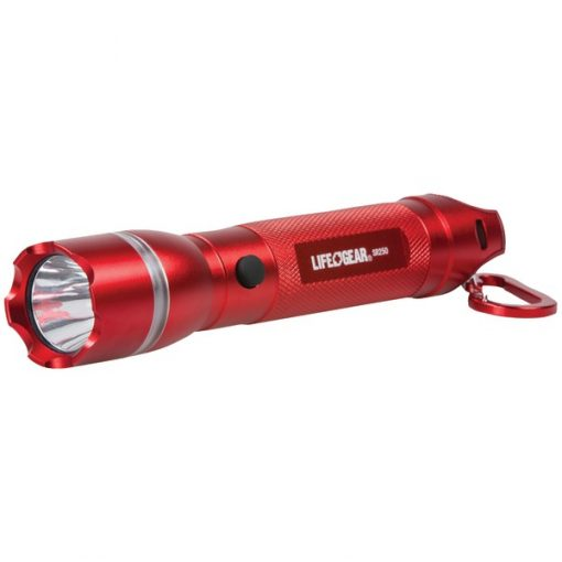 Life+Gear AA35-60538-RED 250-Lumen Searchlight with Emergency Beacon