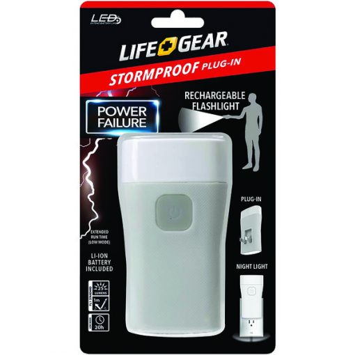 Life+Gear AA38-60635-RED 25-Lumen Stormproof Power Failure Night-Light & Flashlight
