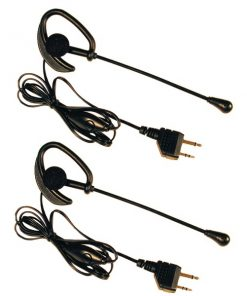 Midland(R) AVP1 2-Way Radio Accessory (Over-the-ear microphone headsets with PTT dual pin jacks)