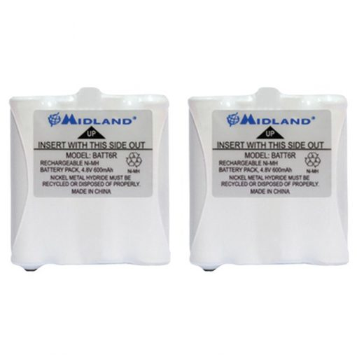 Midland(R) AVP8 2-Way Radio Accessory (2 pk of GMRS Batteries for 200 & 300 Series Radios)