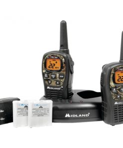 Midland(R) LXT535VP3 24-Mile Camo GMRS Radio Pair Value Pack with Drop-in Charger & Rechargeable Batteries