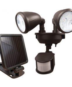 MAXSA(R) Innovations 44216 Dual-Head Solar Spotlight (Dark Bronze)