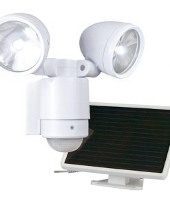 MAXSA(R) Innovations 44418 Bright Dual-Head Solar Security Light (White)