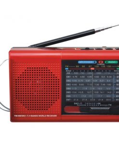 Supersonic(R) SC-1080BT- RED 9-Band Bluetooth(R) Radio
