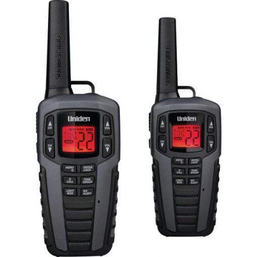 Uniden(R) SX377-2CKHS 37-Mile 2-Way FRS/GMRS Radios (Gray)