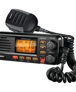 Uniden(R) UM380BK Fixed Mount VHF/2-Way Marine Radio (Black)