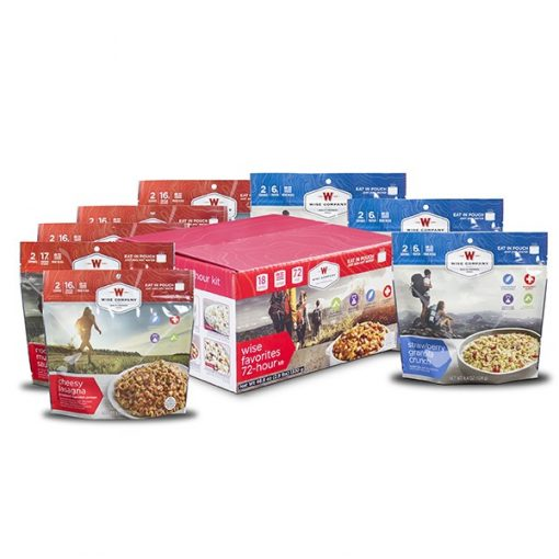 NEW 9 Pack - Wise Favorites  72 Hour Kit