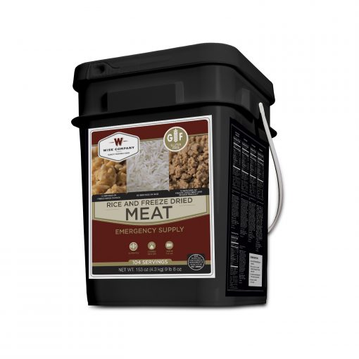 NEW Freeze Dried Meat Bucket - 104 Servings Gluten Free