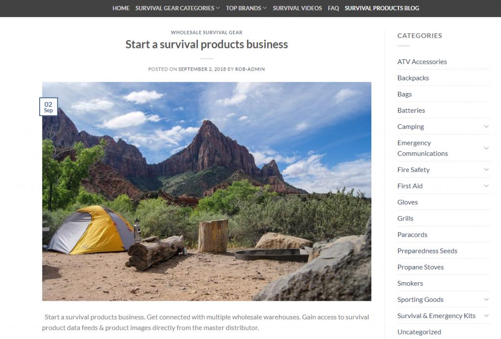 get a website built survival products website building services